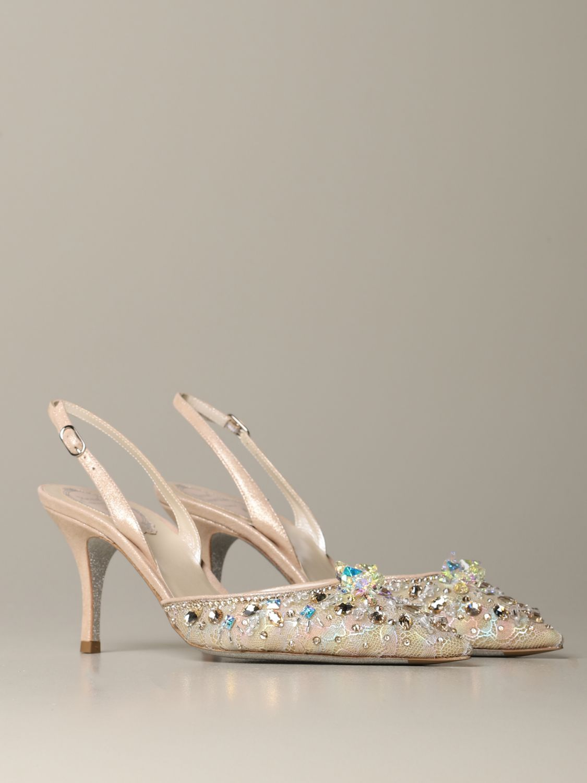 Обувь Женское Rene Caovilla пудра 2