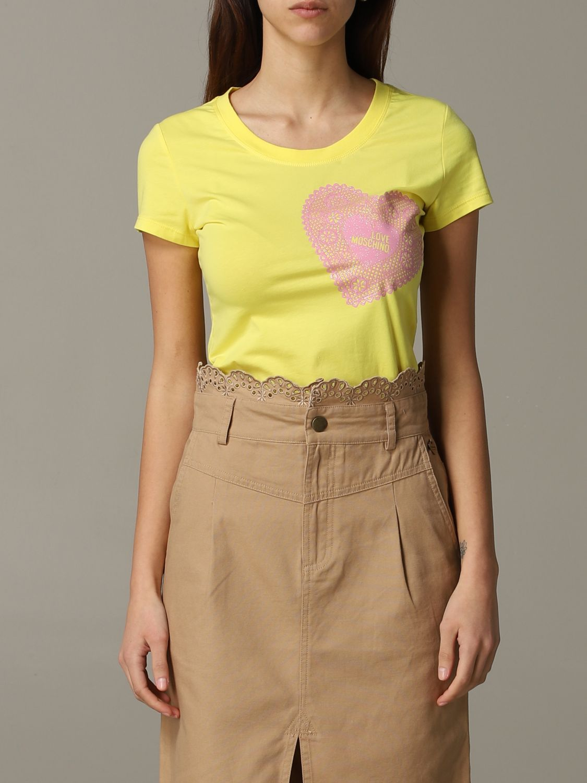 T-shirt damen Love Moschino gelb 1