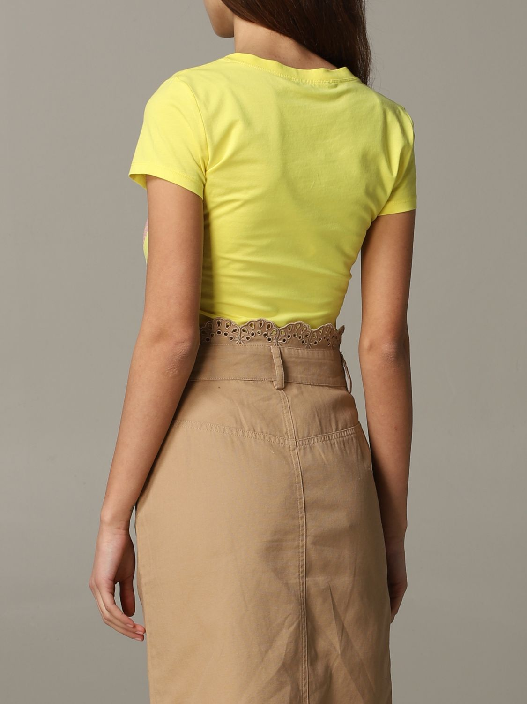 T-shirt damen Love Moschino gelb 3