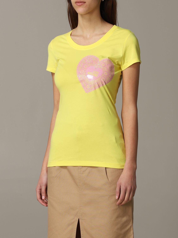 T-shirt damen Love Moschino gelb 4