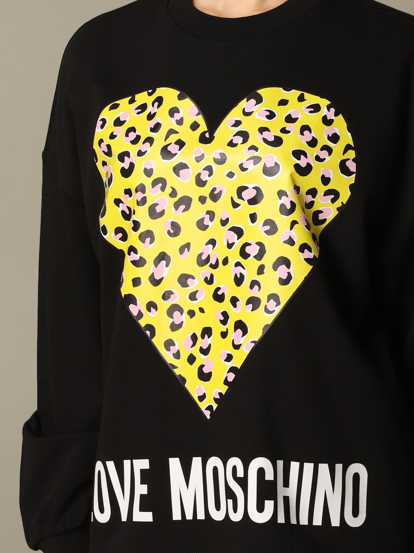Love Moschino sweatshirt with logo and heart black 3
