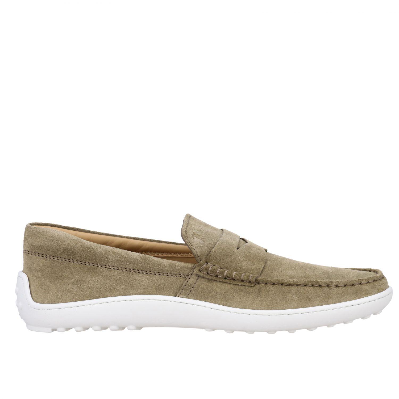 Tod's Slipper Sneakers aus Wildleder mit Gummisohle sand 1
