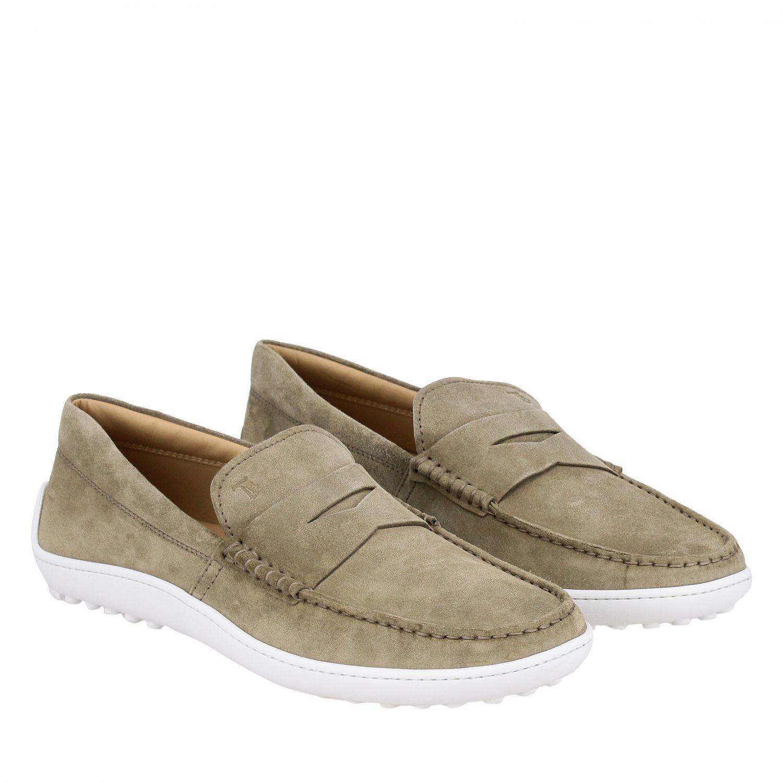 Tod's Slipper Sneakers aus Wildleder mit Gummisohle sand 2