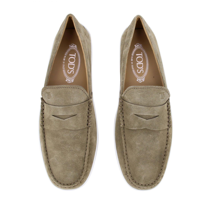 Tod's Slipper Sneakers aus Wildleder mit Gummisohle sand 3