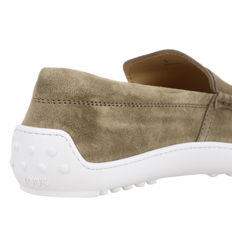 Tod's Slipper Sneakers aus Wildleder mit Gummisohle sand 5