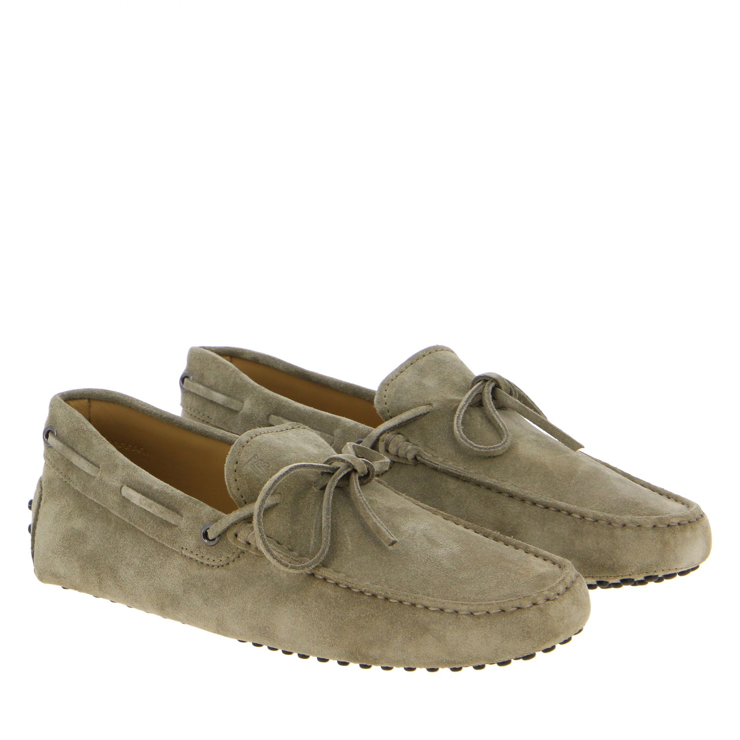 Tod's New Gommini moccasin in suede with strap beige 2