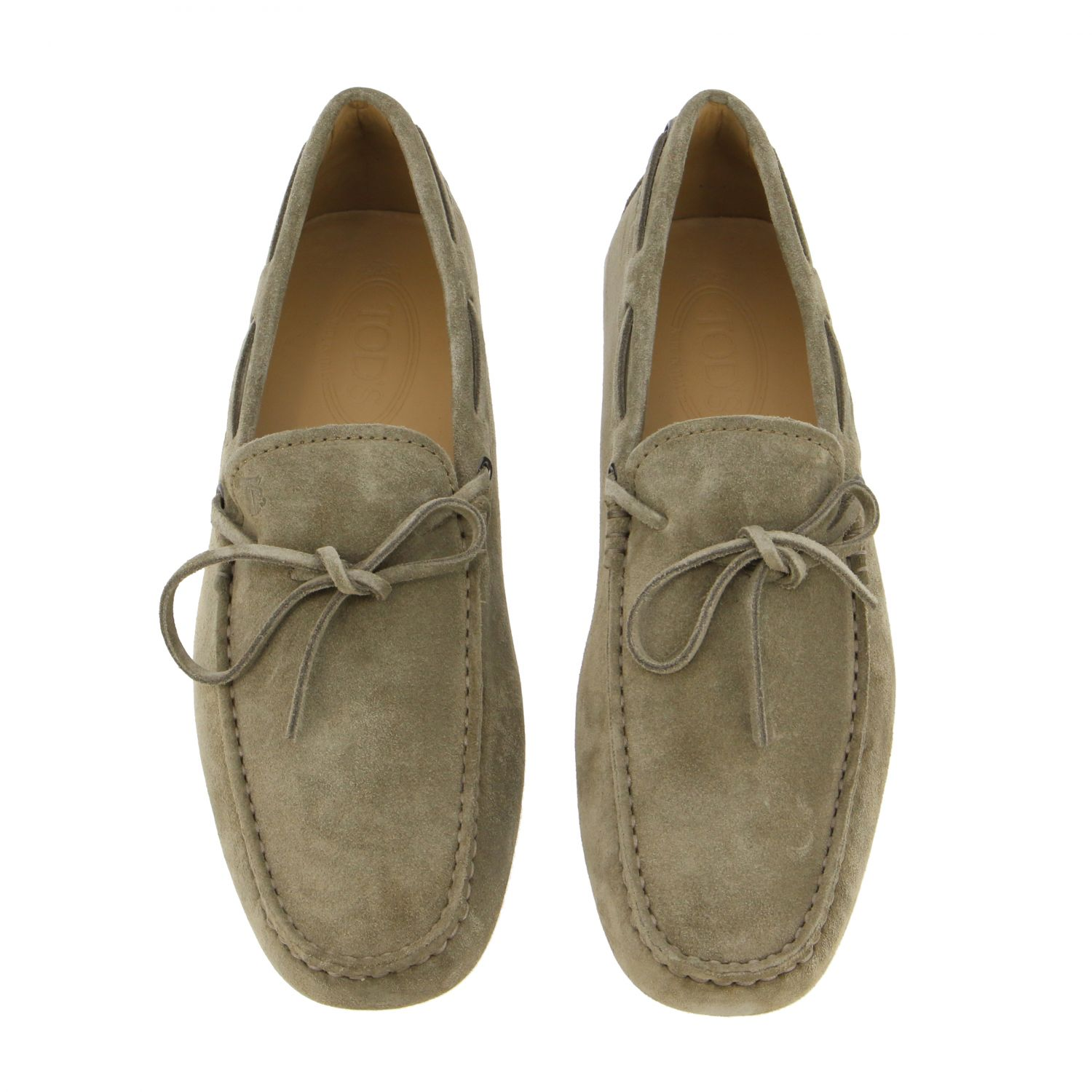 Tod's New Gommini moccasin in suede with strap beige 3