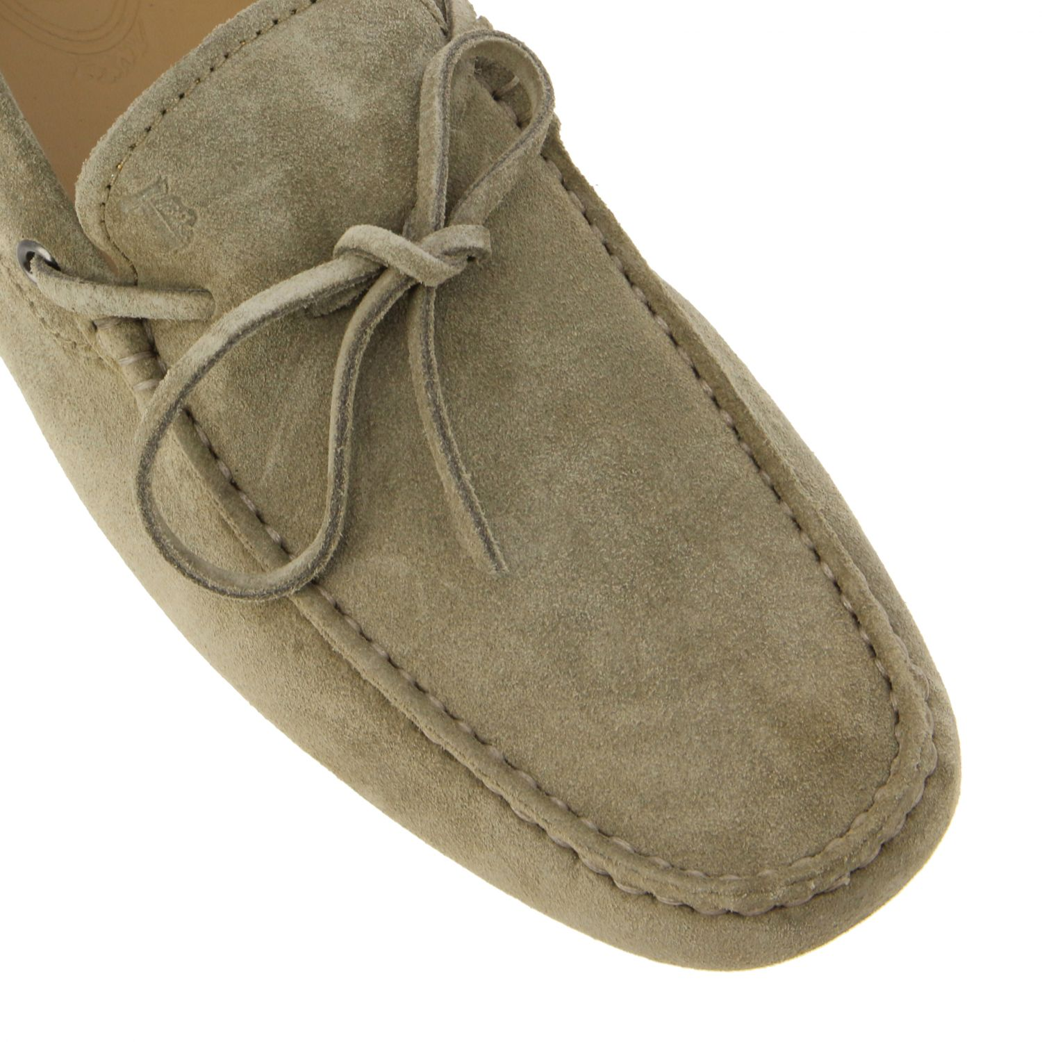 Tod's New Gommini moccasin in suede with strap beige 4