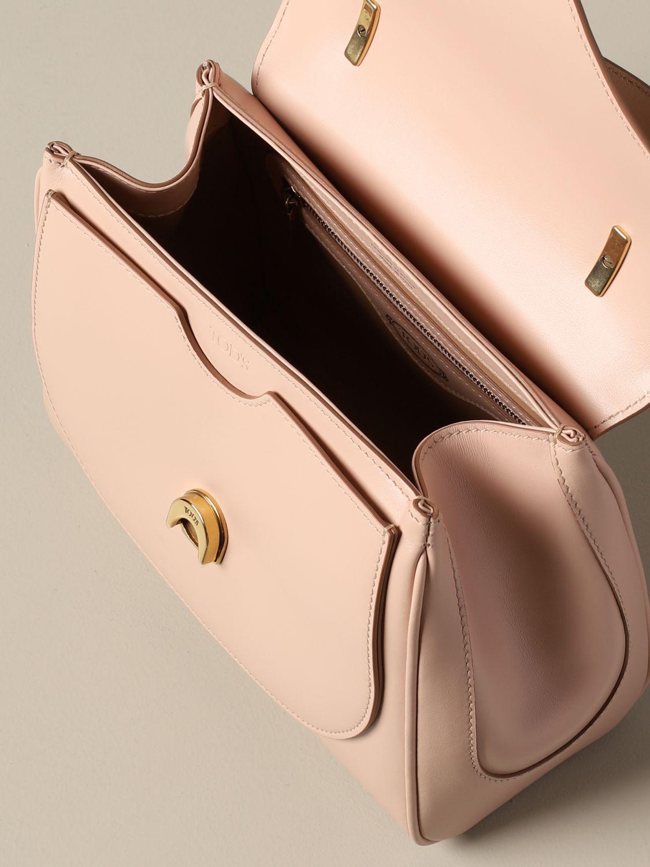 Сумка с короткими ручками Tods: Сумка New t 1 через плечо из кожи Женское Tod's розовый 4