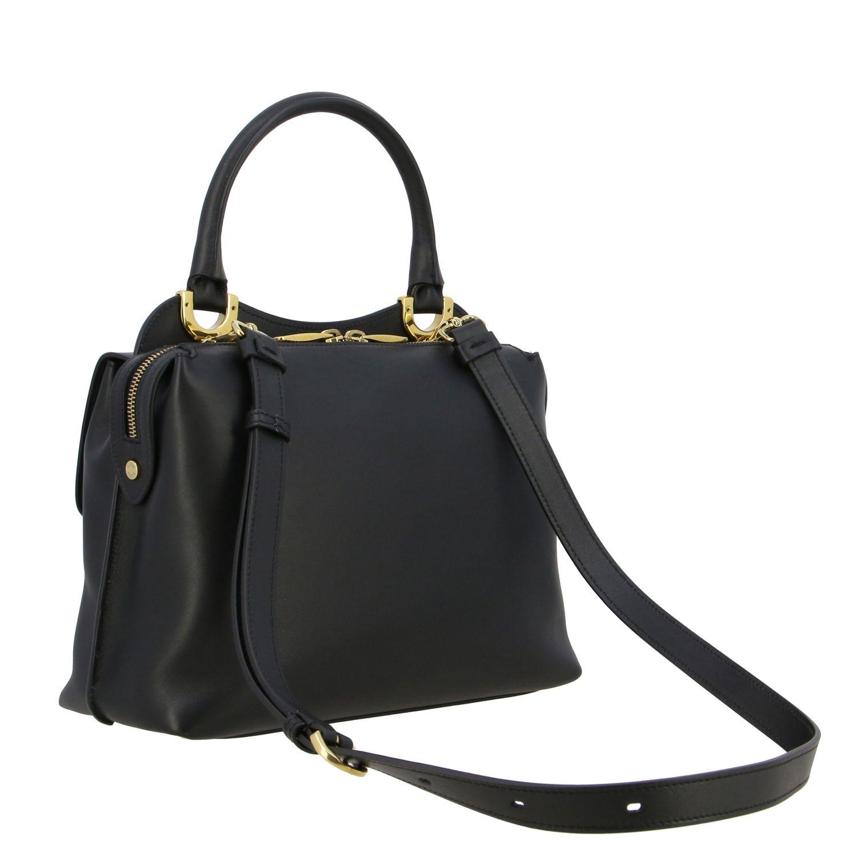 Sac porté main Tods: Mini sac à main Tod's en cuir avec zip noir 3