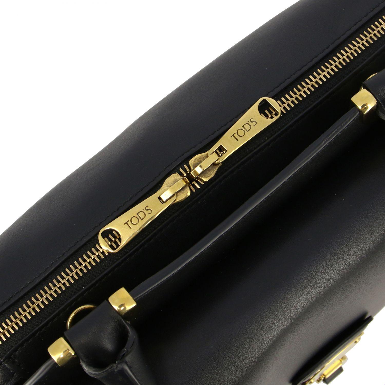 Sac porté main Tods: Mini sac à main Tod's en cuir avec zip noir 4