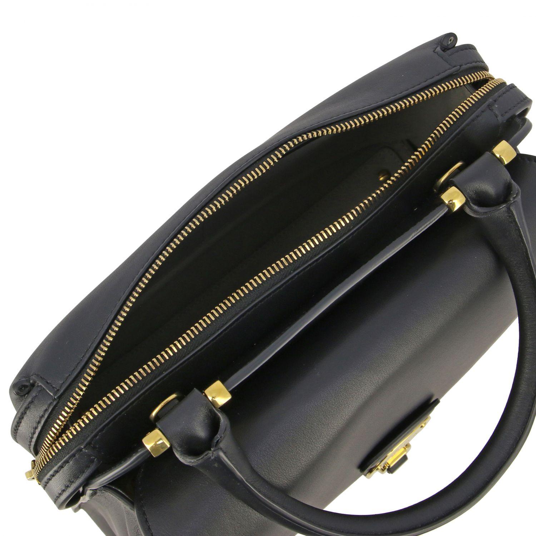 Sac porté main Tods: Mini sac à main Tod's en cuir avec zip noir 5