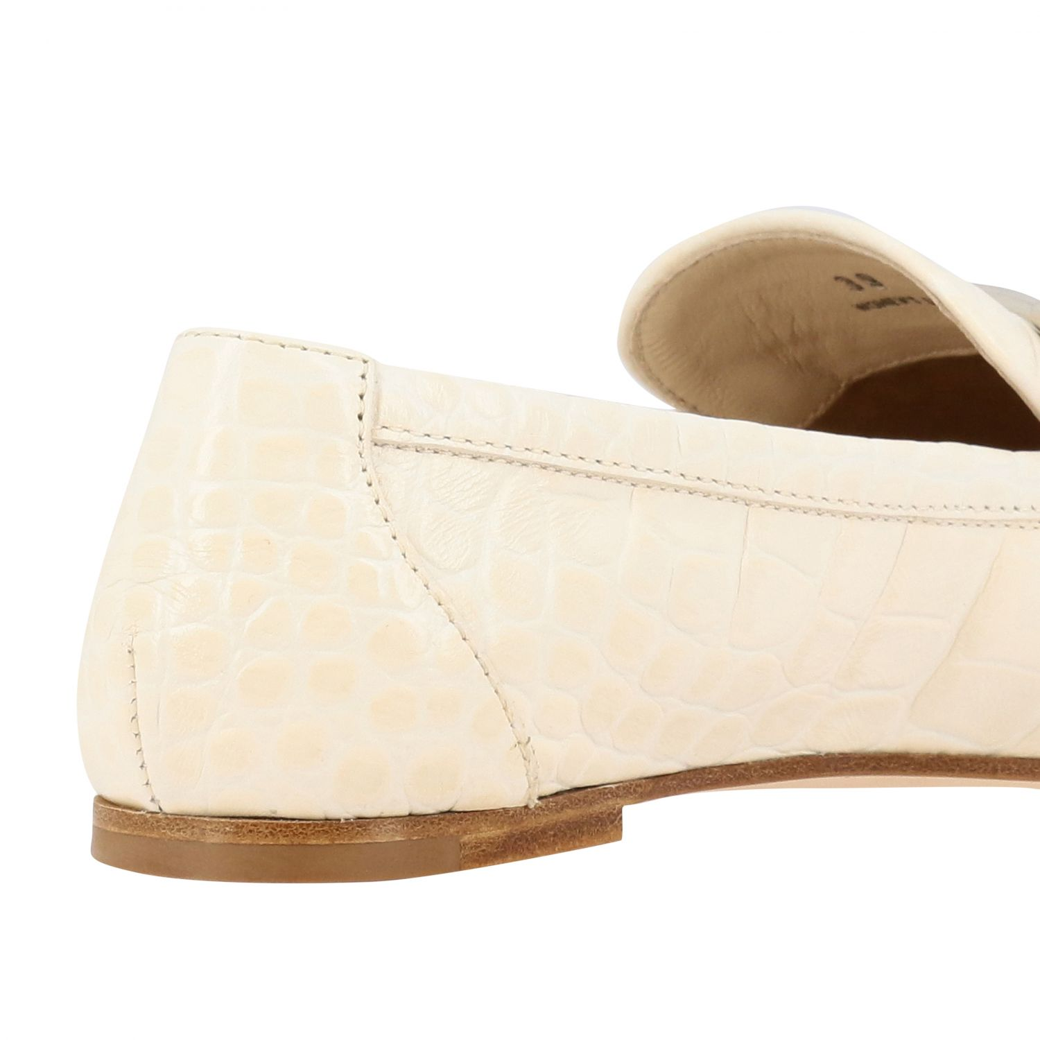 Mocassino Tod's in pelle stampa cocco con double T bianco 5