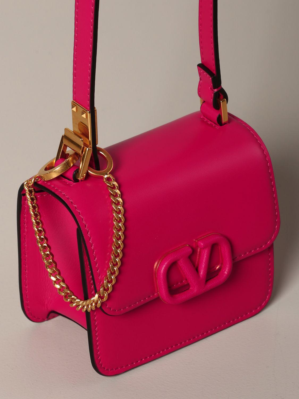 Mini sac à main Valentino Garavani: Sac en cuir VLogo micro Valentino Garavani fuchsia 4