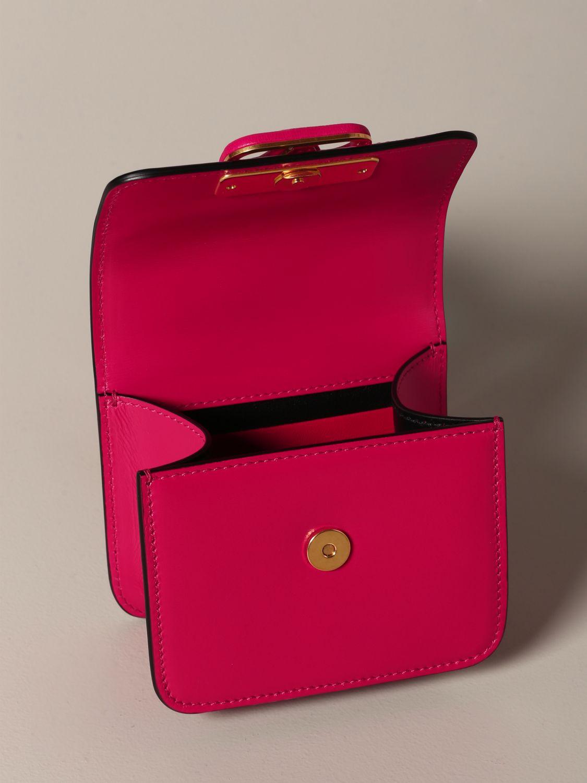 Mini sac à main Valentino Garavani: Sac en cuir VLogo micro Valentino Garavani fuchsia 5
