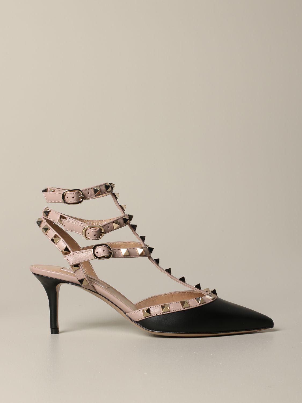 Valentino Garavani Rockstud pumps in leather black 1