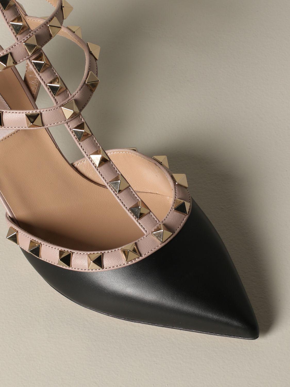 Valentino Garavani Rockstud pumps in leather black 4