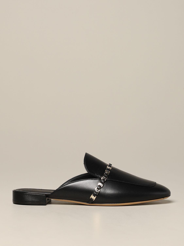 Salvatore Ferragamo 真皮Slide凉鞋 黑色 1