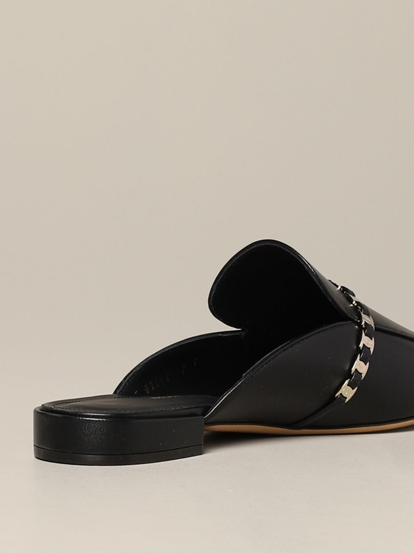 Salvatore Ferragamo 真皮Slide凉鞋 黑色 5