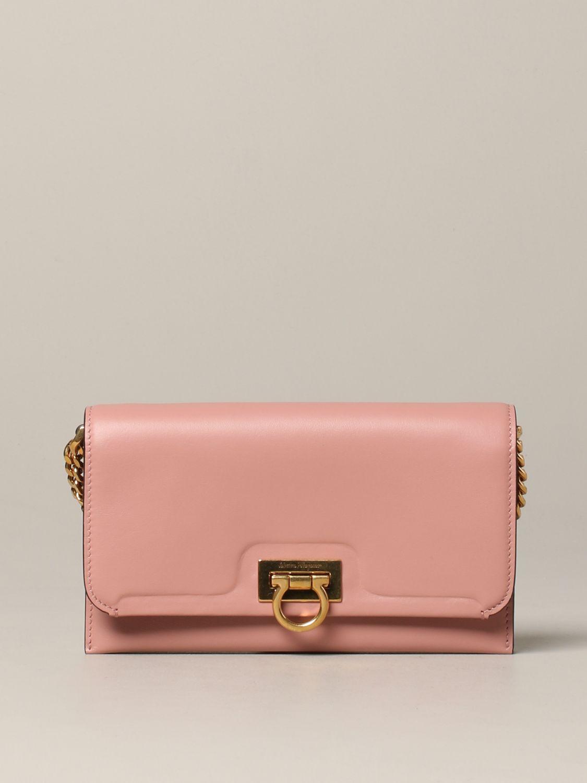 Salvatore Ferragamo Gancio square wallet 真皮手袋 粉色 1