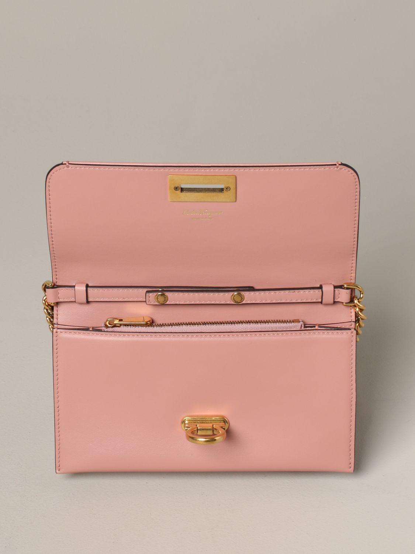 Salvatore Ferragamo Gancio square wallet 真皮手袋 粉色 5