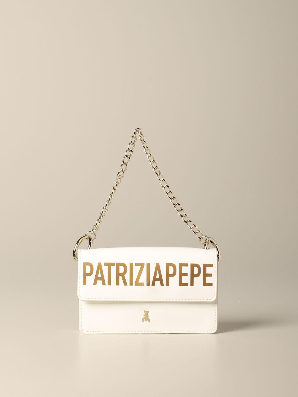 Patrizia Pepe Tasche / Gürteltasche mit Logo yellow cream 1