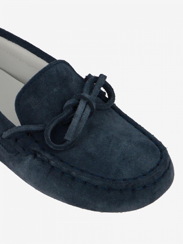 Scarpe Tods: Mocassino Drive Gommini Tod's in camoscio con laccetti blue navy 4
