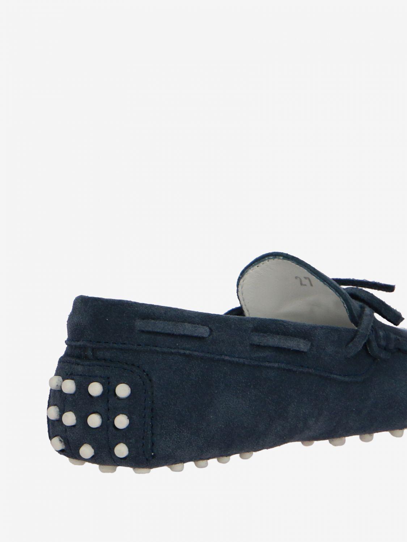 Scarpe Tods: Mocassino Drive Gommini Tod's in camoscio con laccetti blue navy 5