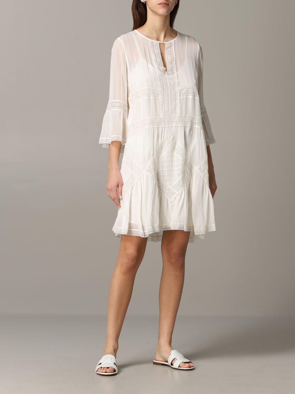 Twin Set Kleid aus Baumwolle und Spitze