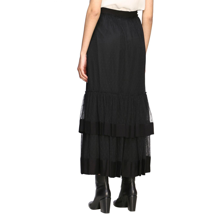 Twin Set 网纱长款半身裙 黑色 2