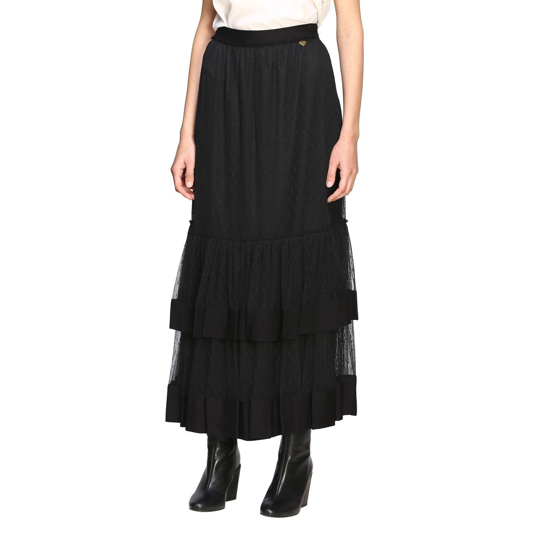 Twin Set 网纱长款半身裙 黑色 3