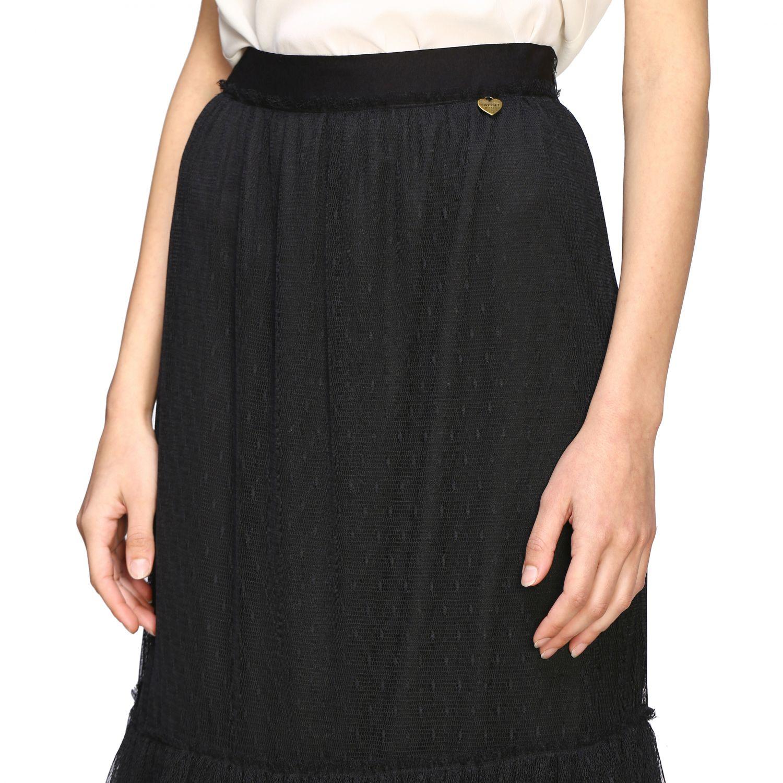 Twin Set 网纱长款半身裙 黑色 4