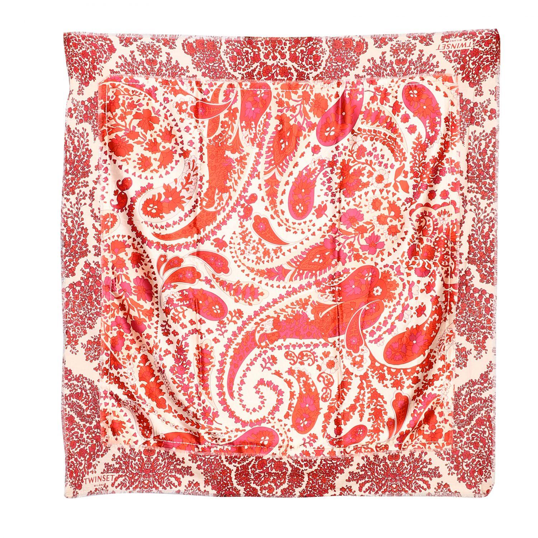 Sciarpa Twin-set con stampa cachemire rosso 1