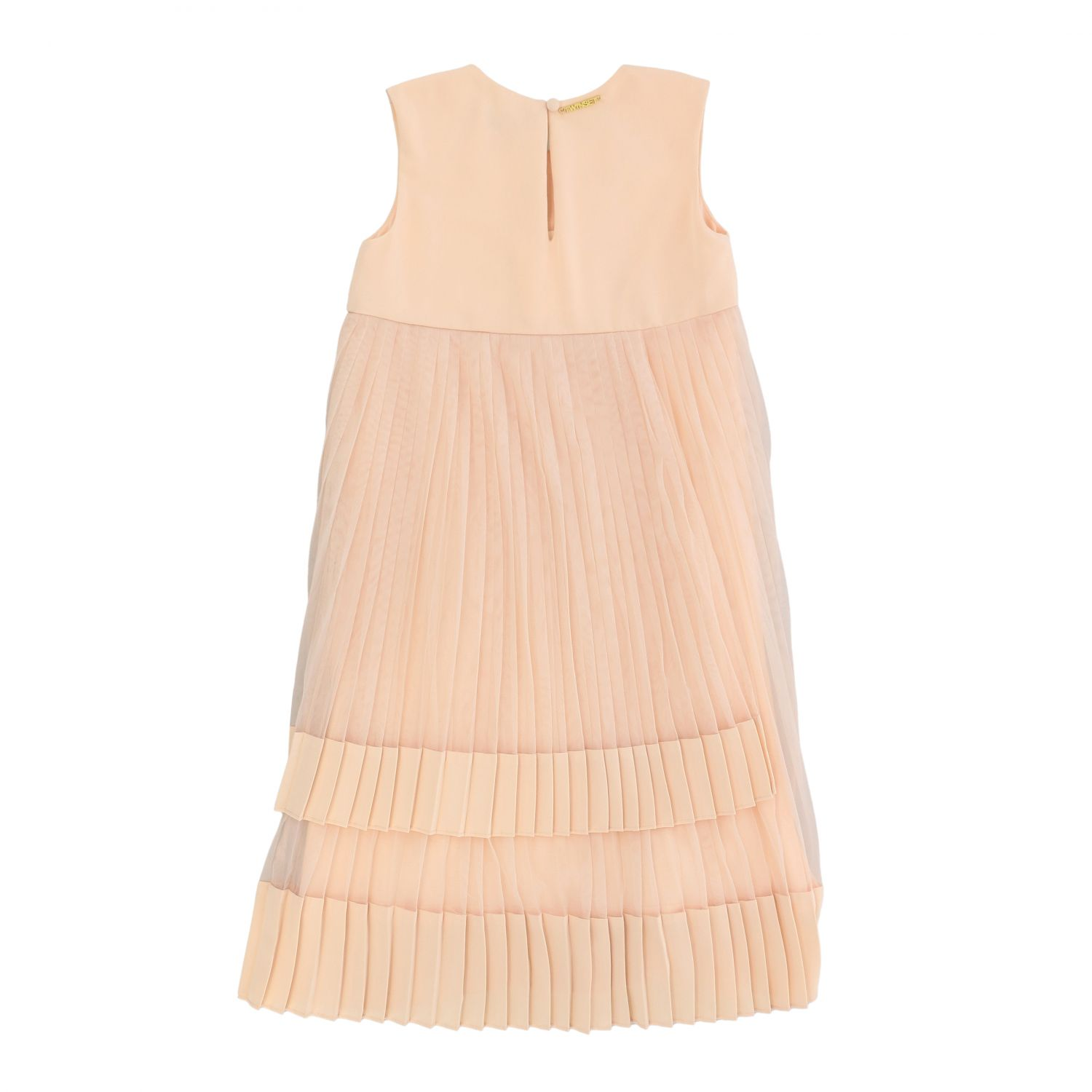 Twin-set dress in pleated tulle pink 2