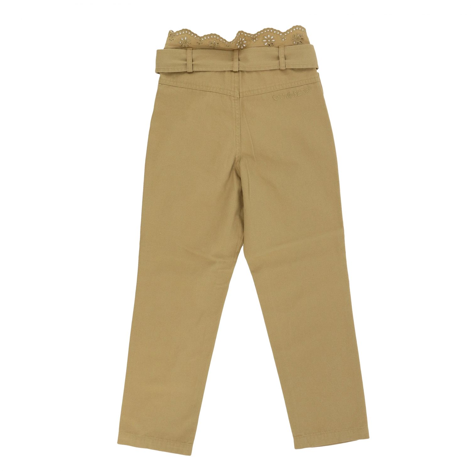 Pants Twin Set: Twin-set trousers with Sangallo details beige 2