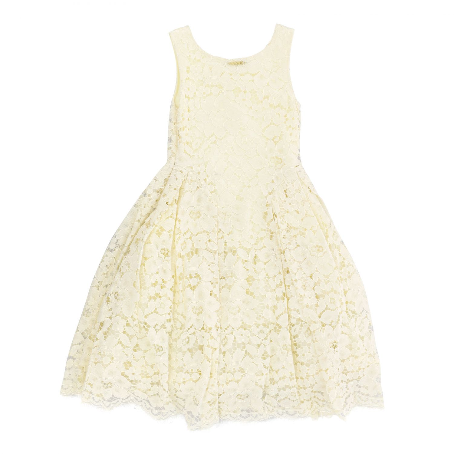 Twin-set lace dress yellow cream 2
