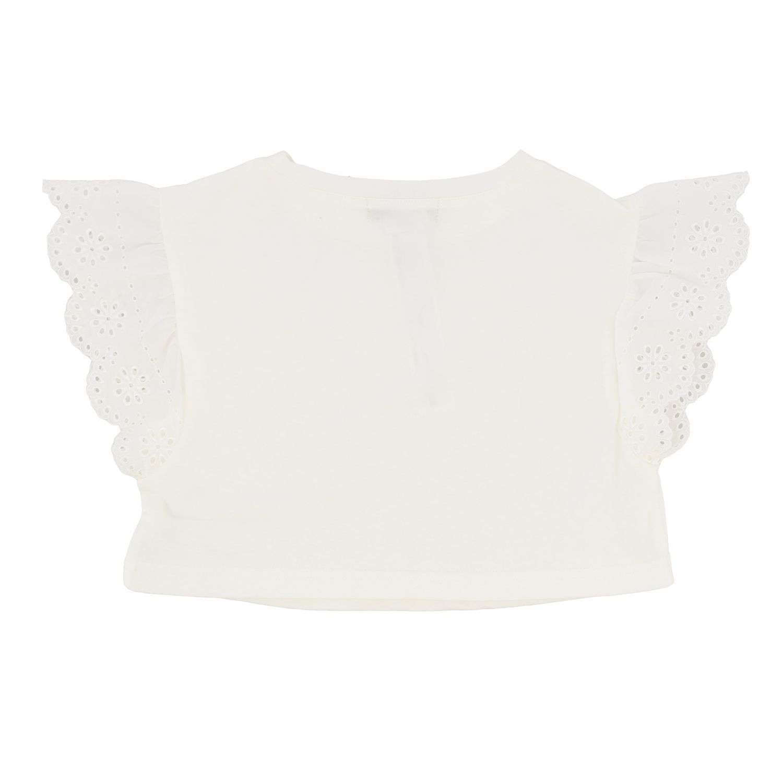 Блузка Twin Set: Блузка с рюшами на рукавах Детское Twin Set белый 2