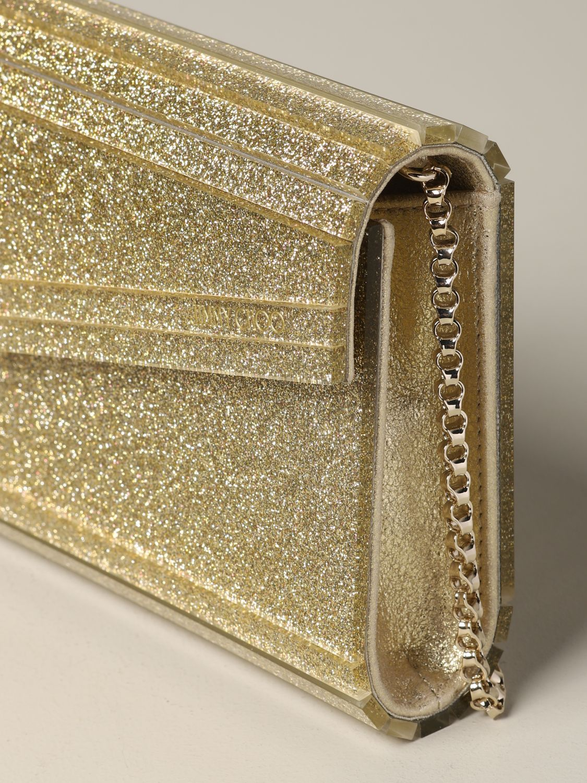 Jimmy Choo Candy glitter clutch gold 4