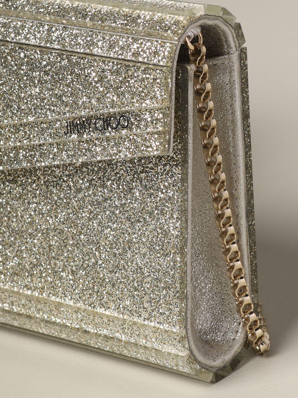Jimmy Choo Candy glitter clutch champagne 4