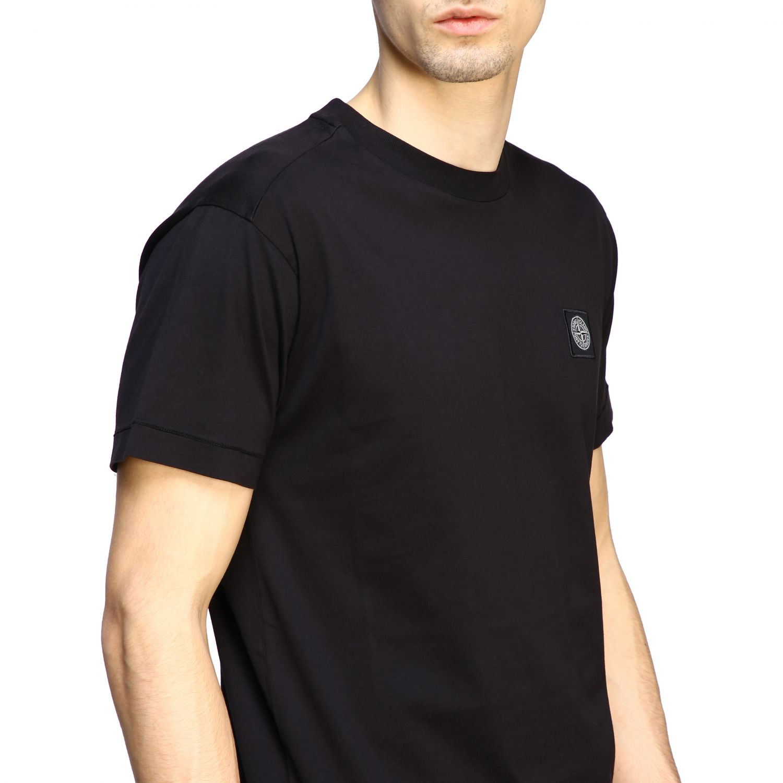 Stone Island logo圆领T恤 黑色 5