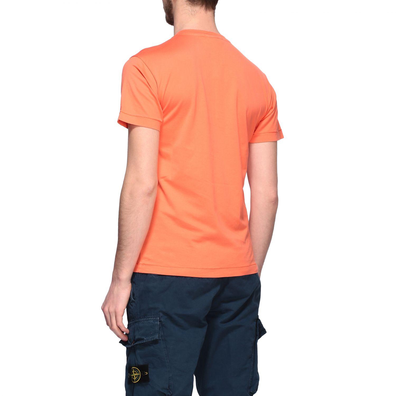 Stone Island logo圆领T恤 橙色 3