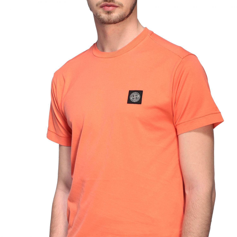 Stone Island logo圆领T恤 橙色 5