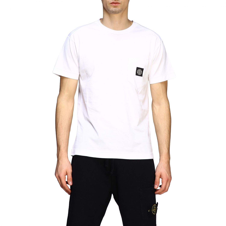 T-shirt men Stone Island white 1