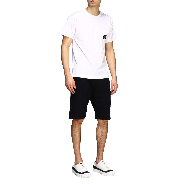 T-shirt men Stone Island white 2