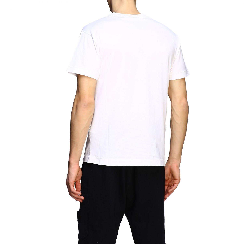 T-shirt men Stone Island white 3