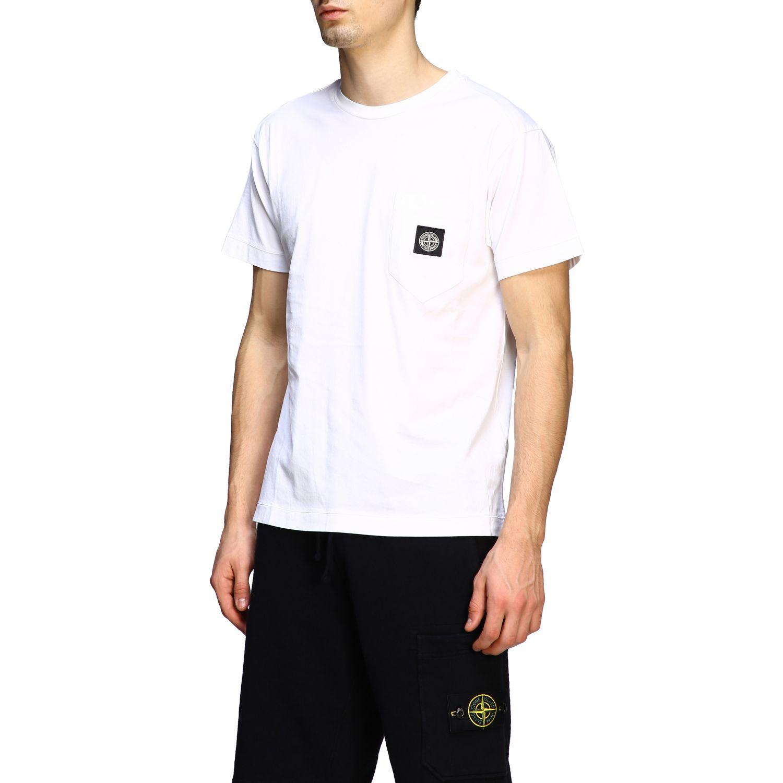 T-shirt men Stone Island white 4