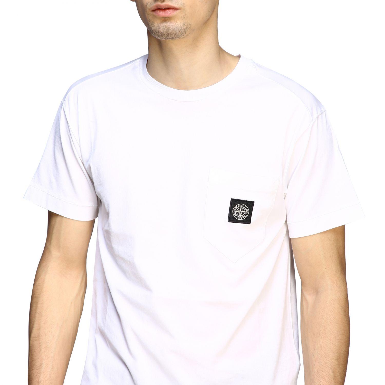 T-shirt men Stone Island white 5