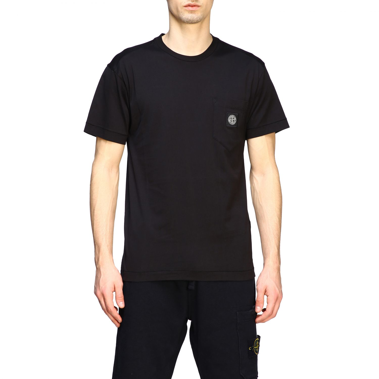 T-shirt men Stone Island black 1