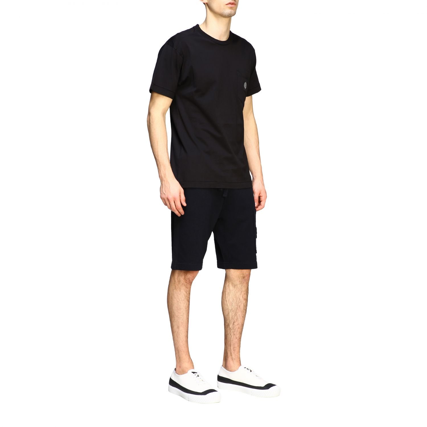 T-shirt men Stone Island black 2