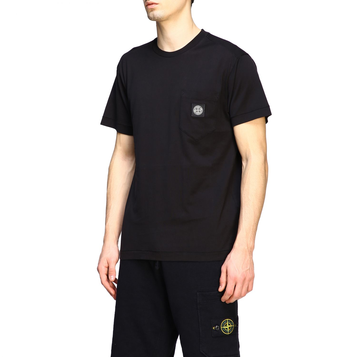 T-shirt men Stone Island black 4